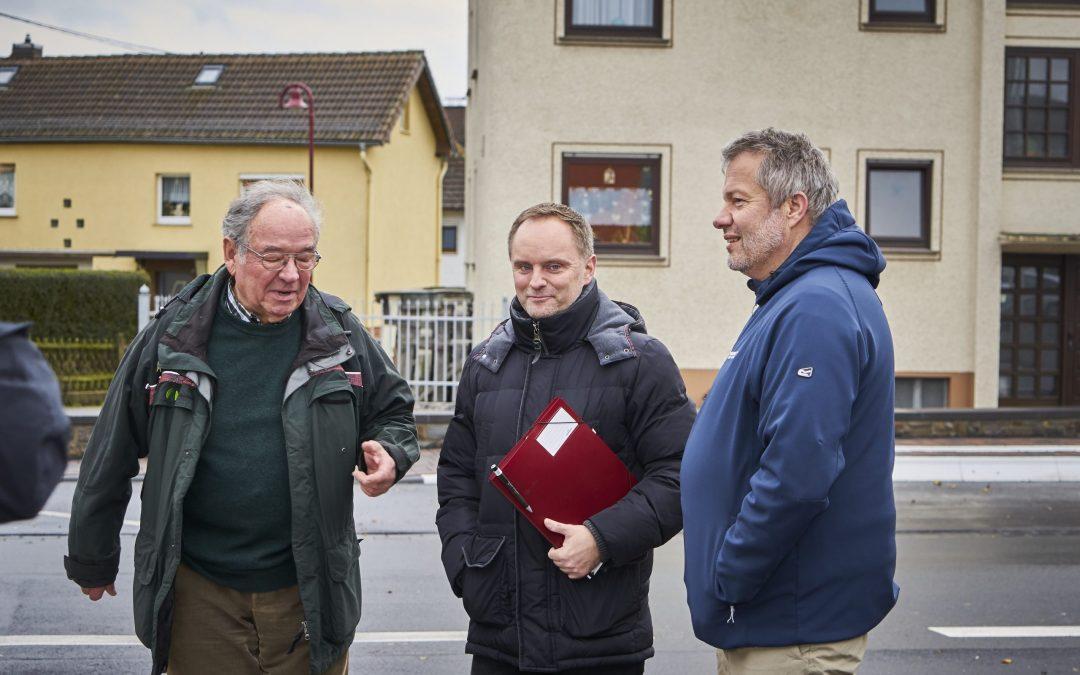 Mike Weiland besucht Dachsenhausen im Rahmen der Dörfertour