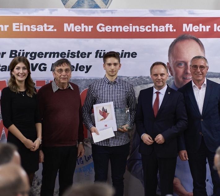 Theodor Sauerwein mit dem Jugendpreis ausgezeichnet