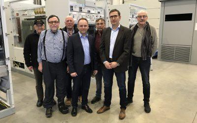 Mike Weiland besucht Firma Elbag in Weisel